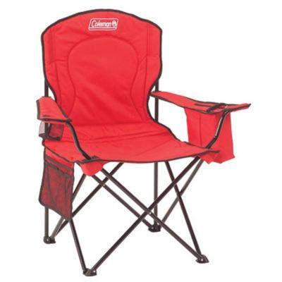 Cadeira Dobrável com Cooler Vermelha