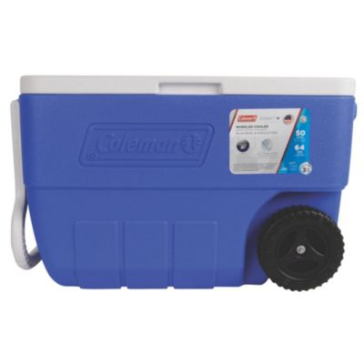 Recipiente Termoplástico azul c/rodas 50QT (47L)
