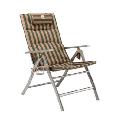 5 Pos Padded Steel Arm Chair w Glassp