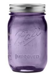 Ball® Regular Mouth Purple Heritage Jar 16oz 6 Pack