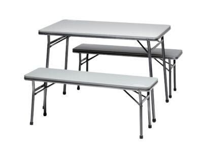 Folding Table and Bench 3 Piece set