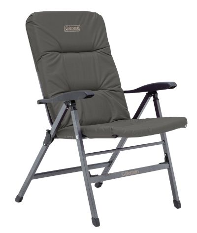 Chair Flat Fold Pioneer Recliner (Charcoal Grey)