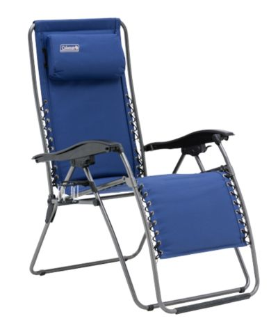 Chair Flat Fold Layback Lounger (Navy)