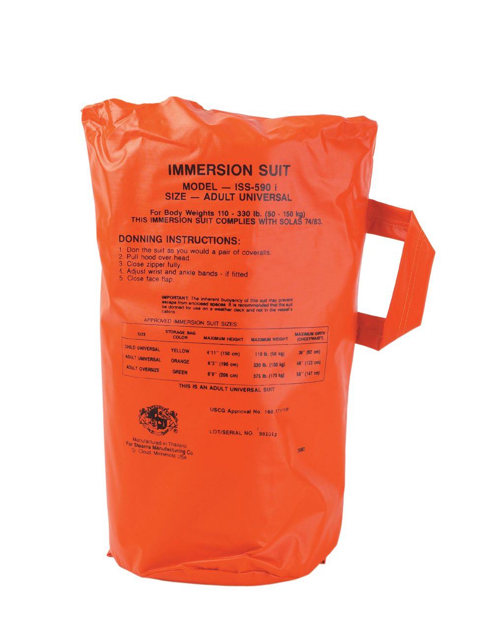 Immersion Suits - Bag