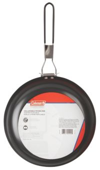 "9"" Steel Non-Stick Fry Pan with Folding Handle"