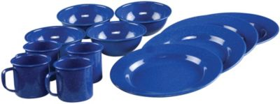 12-PIECE ENAMEL DINNERWARE SET