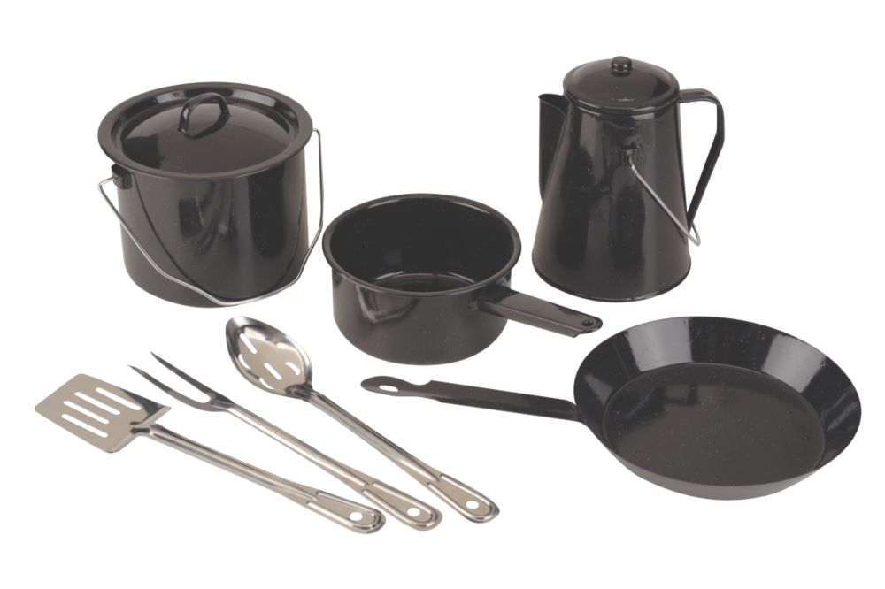 Coleman® 8 Piece Enamel Cooking Set