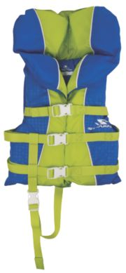 Child Nylon Vest- Blue/Green