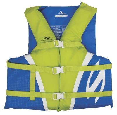 Adult Nylon Vest- Blue/Green