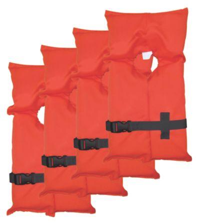 Adult Type II Life Jacket 4-Pack