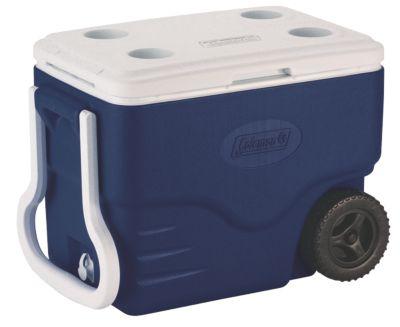 40 QT Dark Blue Wheeled Cooler