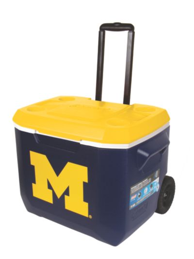60 Quart Performance Wheeled Cooler - Michigan Wolverines