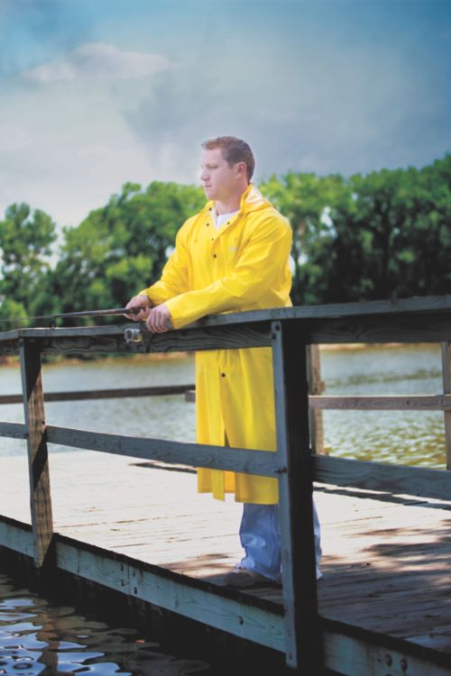 ADULT .30 MM PVC/POLY INDUSTRIAL RAIN COAT
