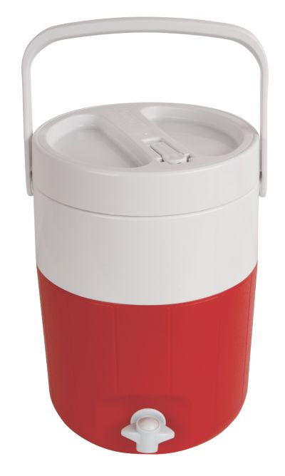 2-Gallon Jug with Faucet and Spout - Red