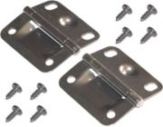 "Hinge Package for Steel Coolers made AFTER 2000 - 2""H x 2-1/8""W - 2 stainless steel hinges & 8 screws"