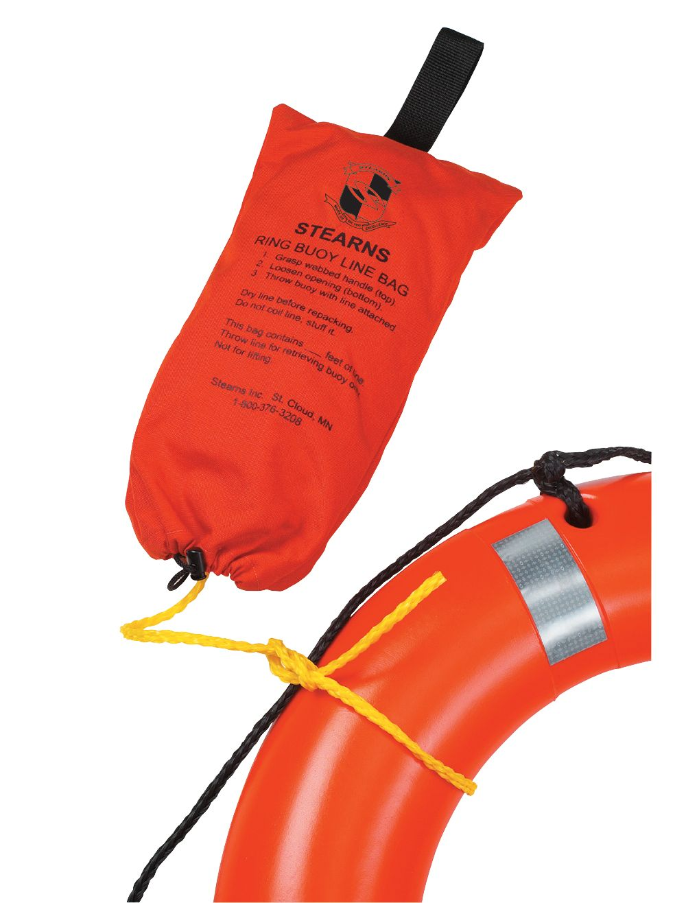 Ring Buoy Rope with Bag - 90 ft.