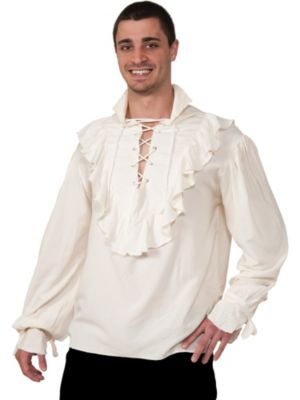 Ruffle Shirt Mens Mens Ecru Pirate Shirt