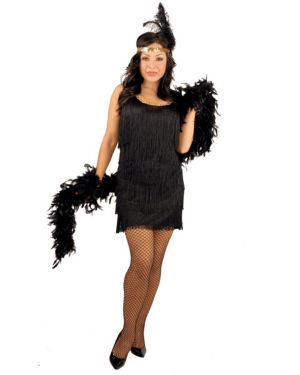 Black Fashion Flatter Plus Size Costume for Adults