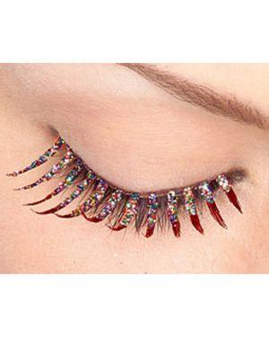 Red Glitter Eyelashes