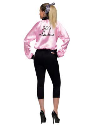 Adult Plus Size Pink Satin Lady Jacket