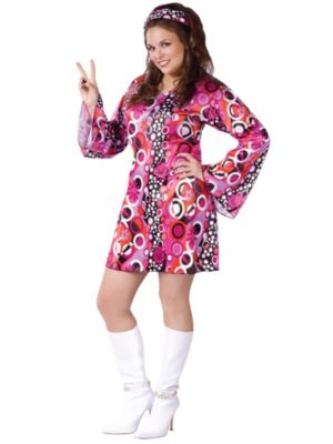 Feelin' Groovy Womens Plus Size Costume