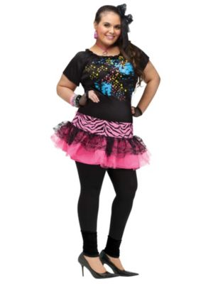 Adult Plus Size  80's Pop Party Costume