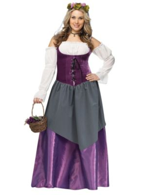 Adult Plus Size Tavern Wench Costume