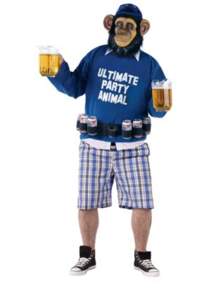 Ultimate Party Animal Mens Plus Costume