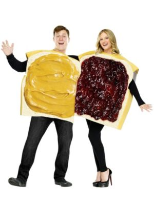 Adult Unisex Peanut Butter and Jelly Costumes