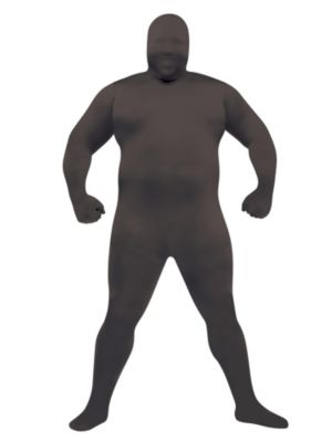 Adult Plus Size Black Skinsuit