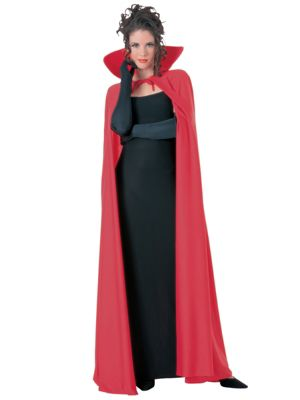 Adult Red Full Length Cape Costume