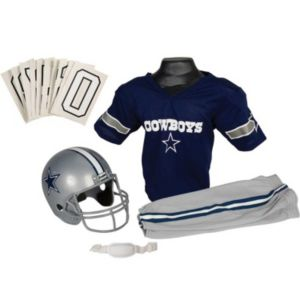 Boys NFL Cowboys Helmet and Uniform Set