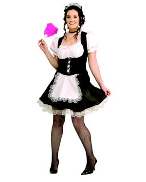French Maid Plus Size Costume for Women