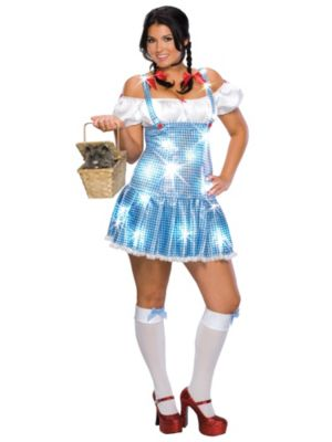 Sparkling Dorothy Womens Plus Size Costume
