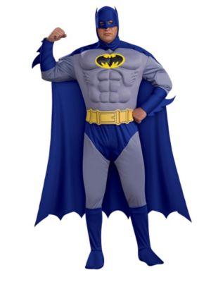 Deluxe Batman Muscle Chest Plus Size Mens Costume