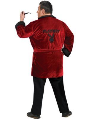 Plus Size Mens Playboy Smoking Jacket Costume