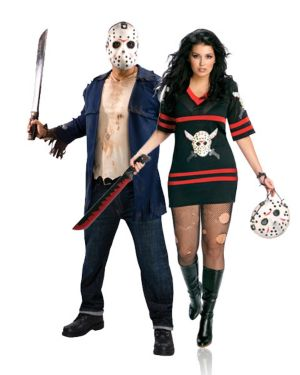Friday the 13th Miss Jason Voorhees Plus Womens Couples Costume