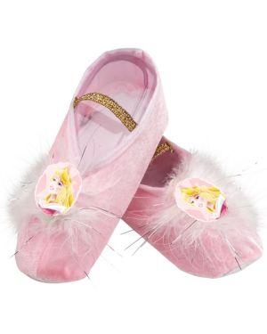 Girls Disney Aurora Ballet Slippers