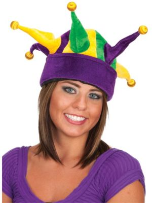 Velvet Light Up Jester Hat