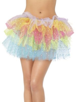 Adult Sparkle Rainbow Tutu with Sequins