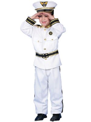 Navy Admiral Child Costume Deluxe