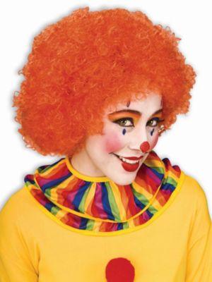 Afro Orange Wig
