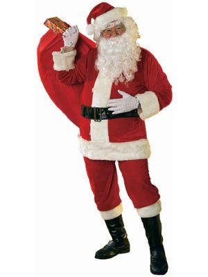 Adult Soft Velour Santa Suit XL