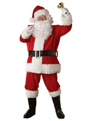X Large Regal Regency Plush Santa Suit Costume Foradult
