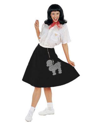 Adult Grey Felt Poodle Skirt