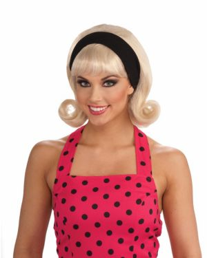1950s Wig w/detachable Headband Blonde Adult