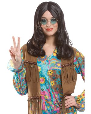 Unisex Hippie Wig Brown Adult