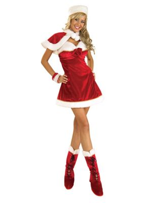 Sexy Miss Santa Costume for Adult