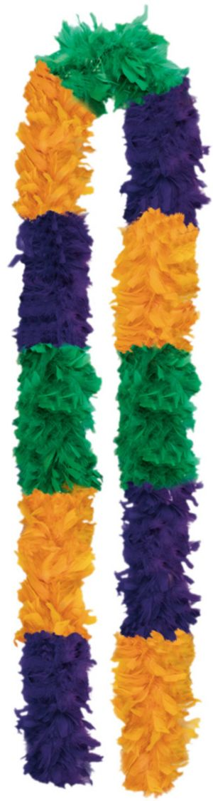 72 Inch Mardi Gras Feather Boa