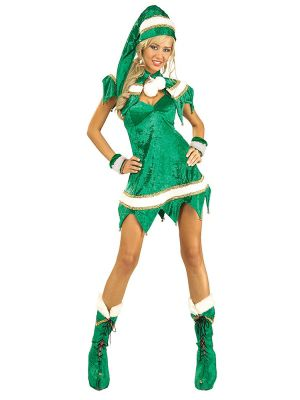 Sexy Green Elf Costume for Women